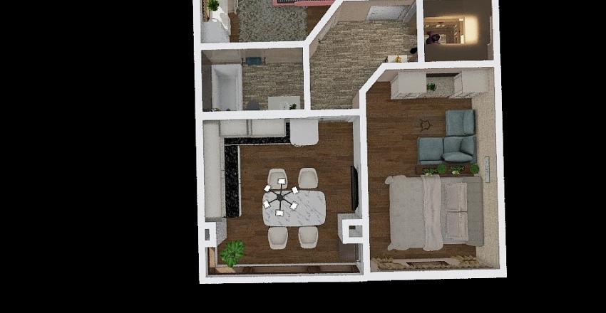 Двухкомнатная квартира Interior Design Render