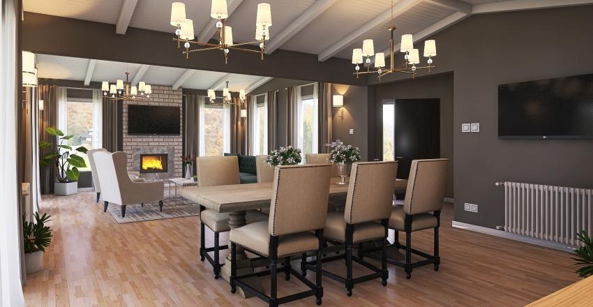 Casa en la Montaña Interior Design Render