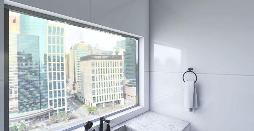Beige and White Interior Design Render