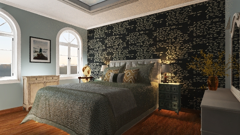 country villa Interior Design Render
