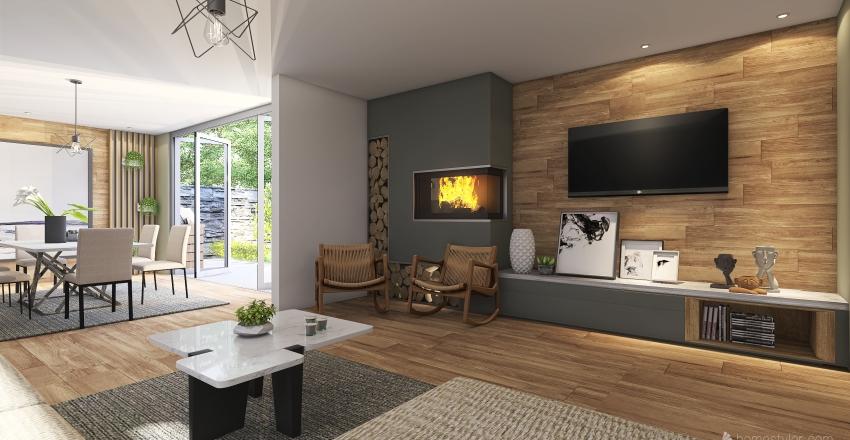 Contemporary house Interior Design Render