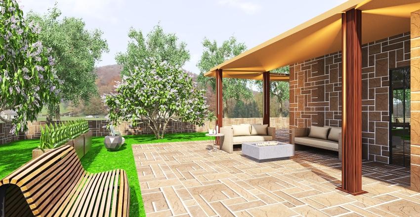 living...open space Interior Design Render