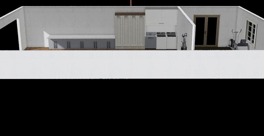 Garage Office Interior Design Render