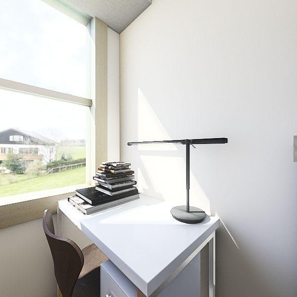single dorm Interior Design Render