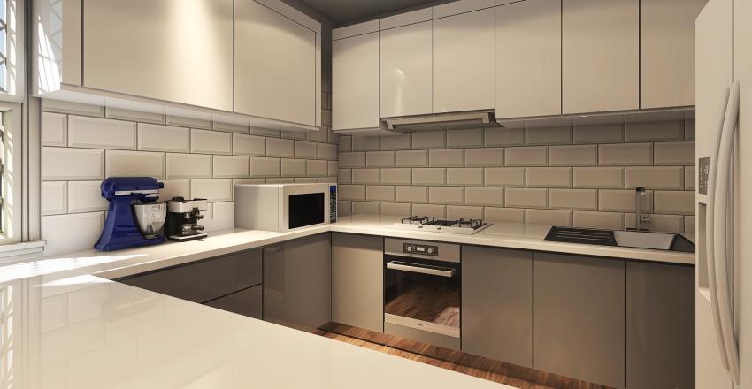 Light Kitchen Interior Design Render