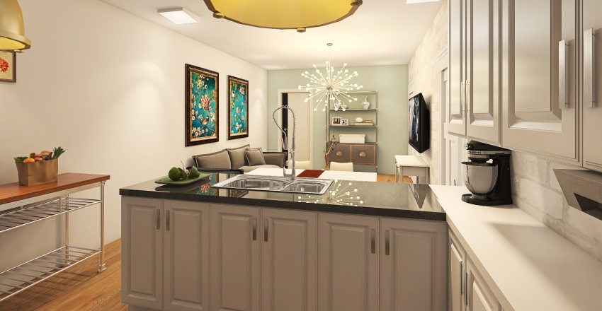 Small Place Interior Design Render