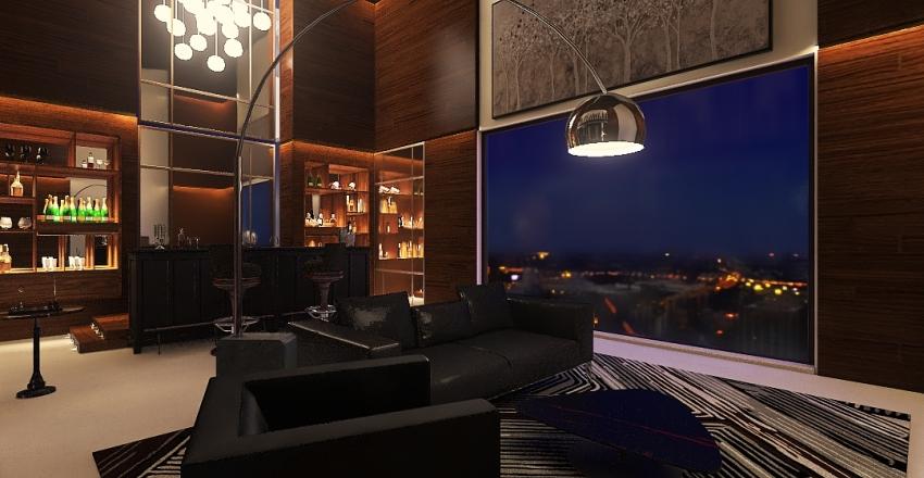 Private Suite Interior Design Render