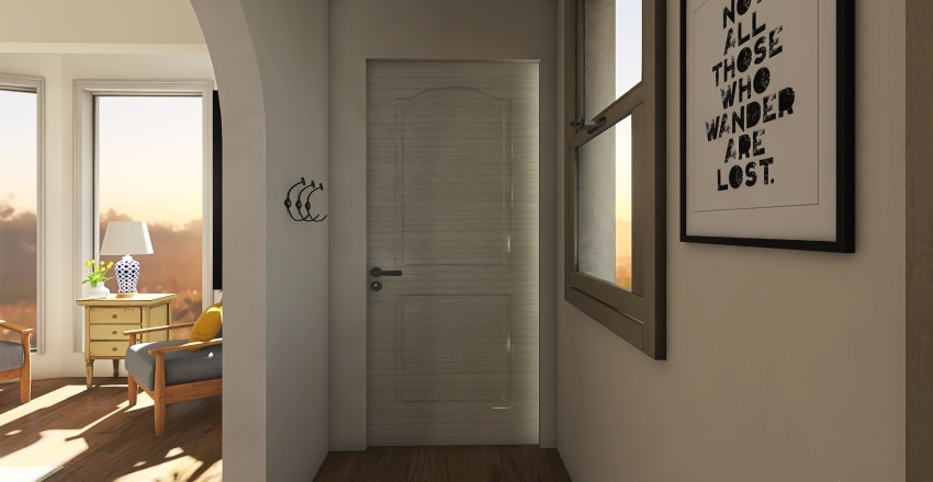 .cottage tinyhouse. Interior Design Render
