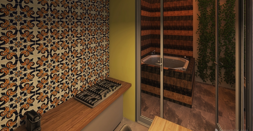 Basic and collors Interior Design Render