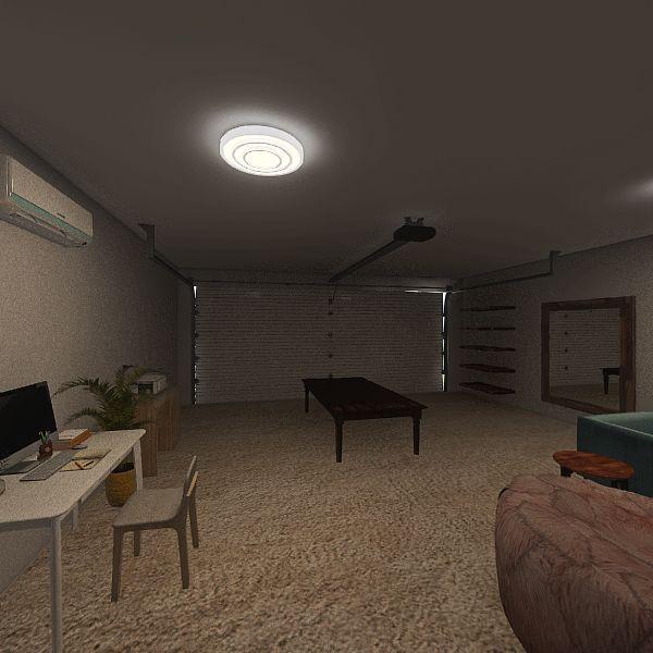 RH Garage Interior Design Render