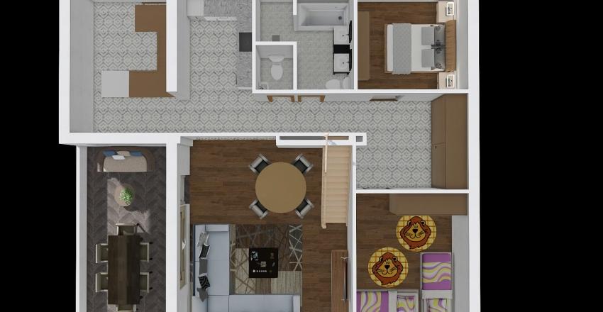 TETŐTÉR Öv utca átalakítás Interior Design Render