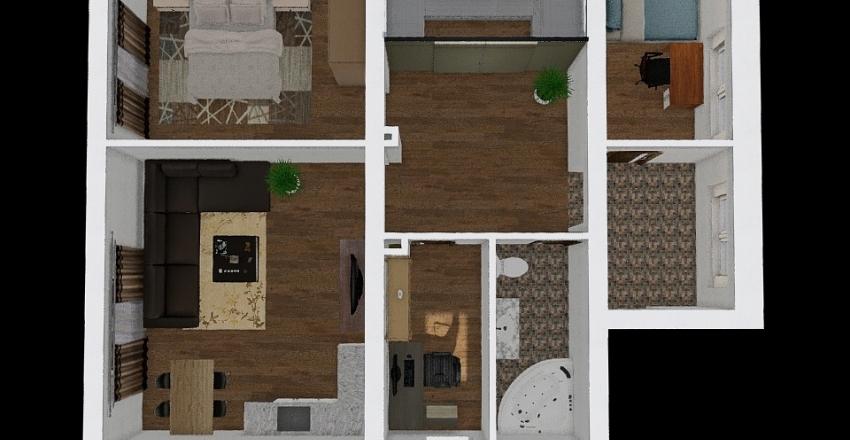 Öv u földszinti lakás átalakítás Interior Design Render