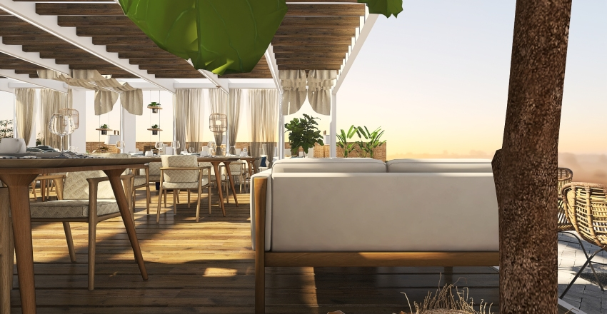 #HSDACommercial All day cafe-restaurant at Crete Interior Design Render