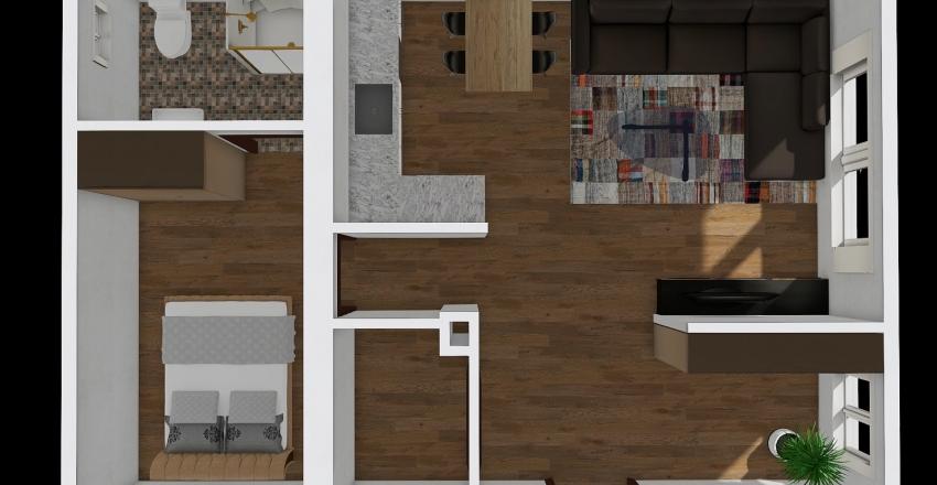 Öv u. hátsó lakás átalakítás Interior Design Render