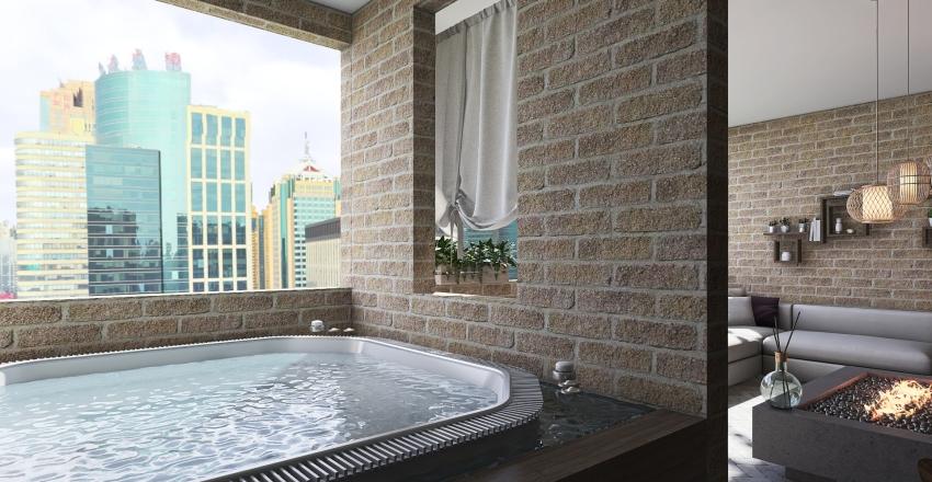 Big City Penthouse Interior Design Render