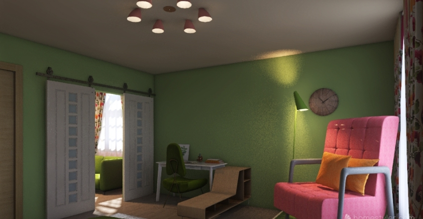 Cutzie Apartment Interior Design Render