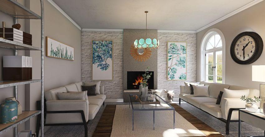 mediterranean Interior Design Render