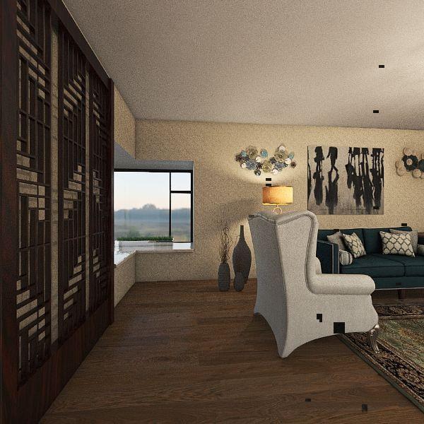 Dramatic Queen Living Room Interior Design Render