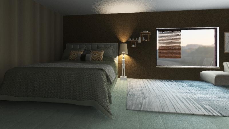 Motivation Bedroom Interior Design Render
