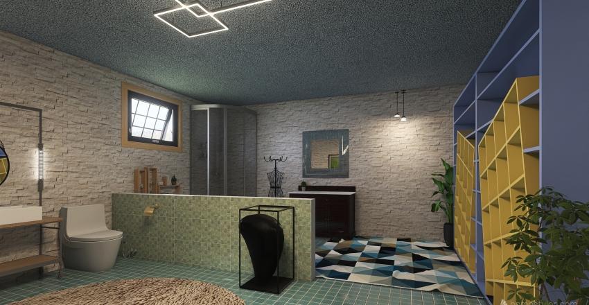Big Comfort Room Interior Design Render