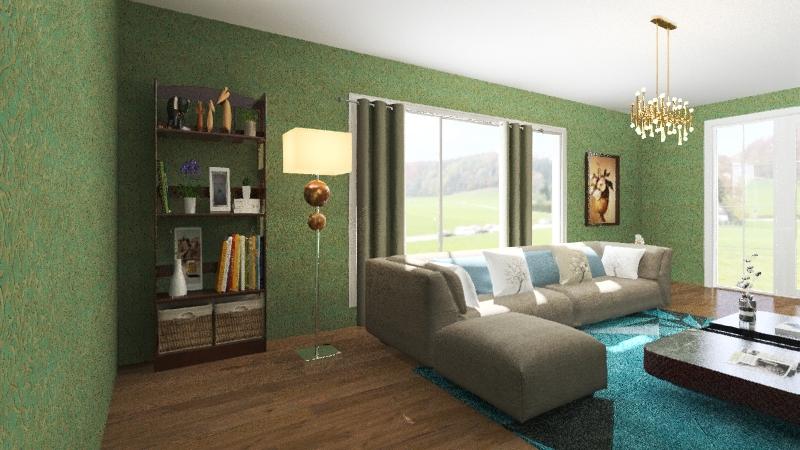 Greeny life Living Room Interior Design Render