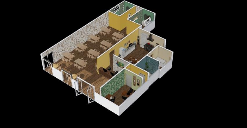 FoodVitta Interior Design Render