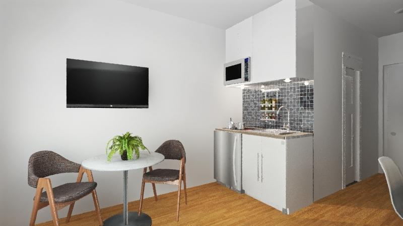 Apto 15 m2 Interior Design Render