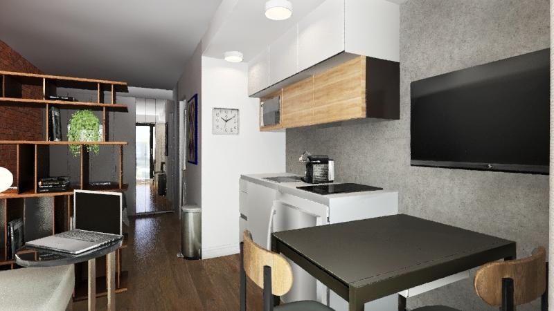 Apto 18 m2 Interior Design Render
