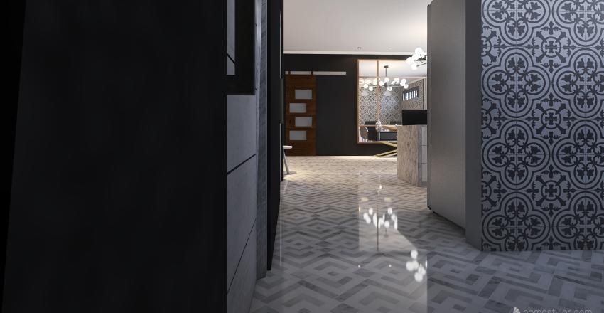 apartamento com um quarto Interior Design Render