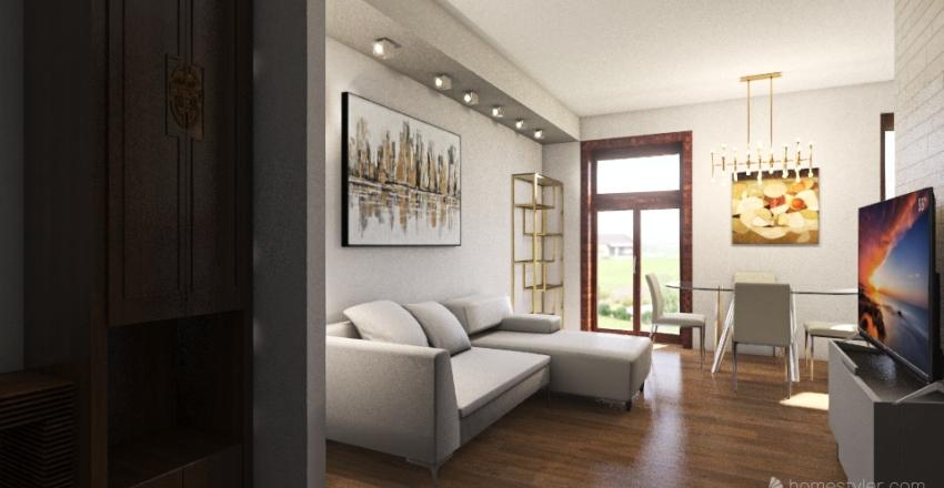 Bilocale comfortevole Interior Design Render