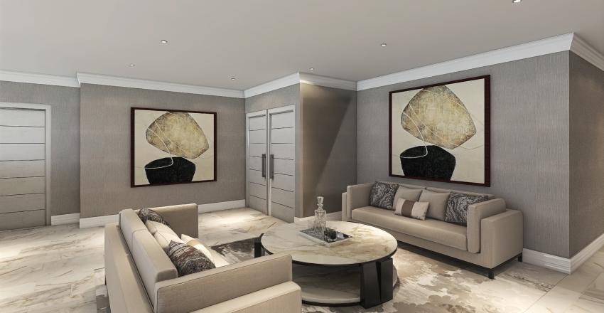 Hollywood Glamour (Upstairs) Interior Design Render