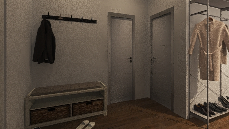 House in lockdown Interior Design Render