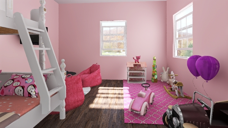 Pink room Interior Design Render