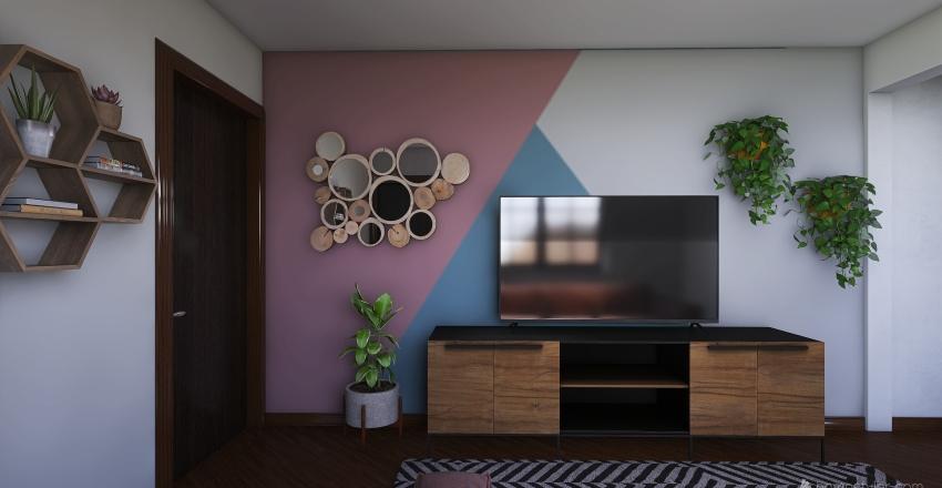 sala residencia Interior Design Render