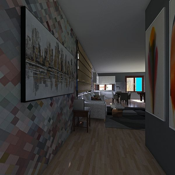 2001 Interior Design Render