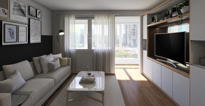 San Fran Apartment Interior Design Render