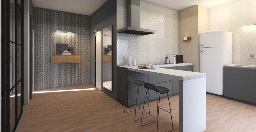 Bilocale teen  Interior Design Render