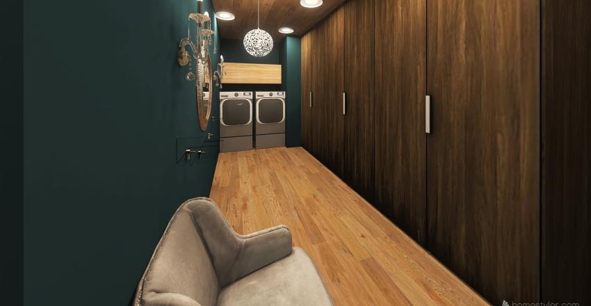 forest cabin Interior Design Render