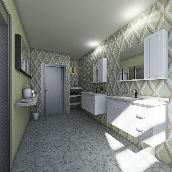 Modern space blue  Interior Design Render