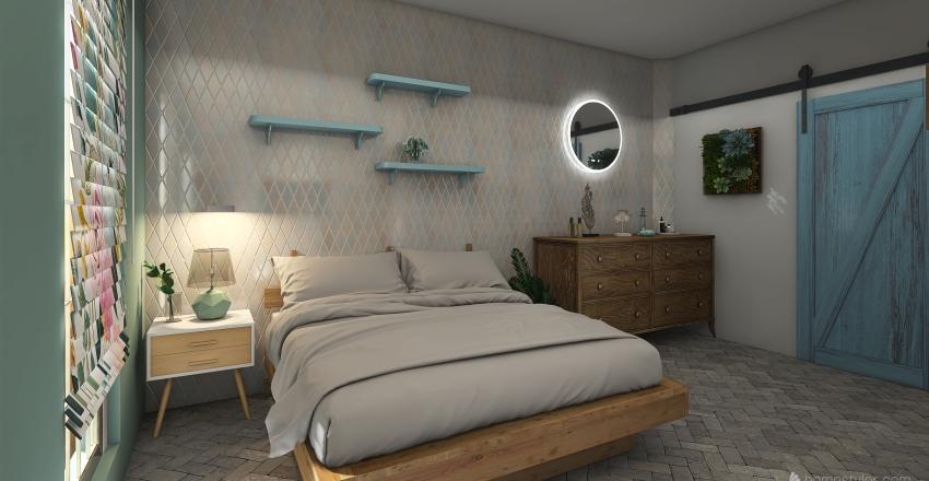 Mini loft sul mare  Interior Design Render