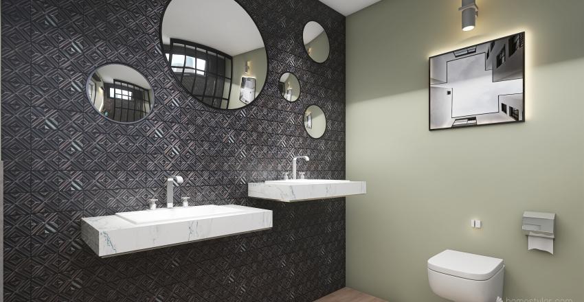 Black 1 floor  Interior Design Render