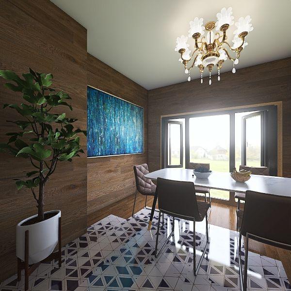 Vintage and modern. Interior Design Render