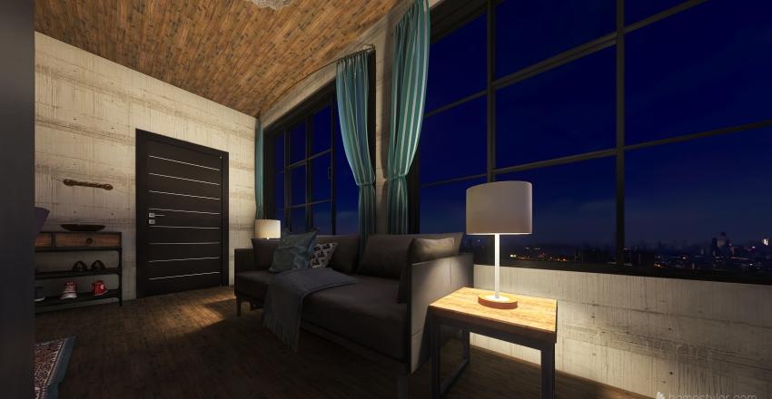 Big city studio Interior Design Render