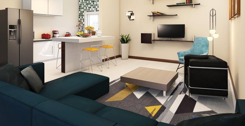 SALA ACOPLADA COM COZINHA ❤ Interior Design Render