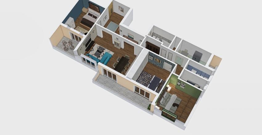 Circonvallazione Trionfale Interior Design Render
