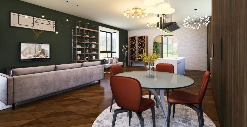 Humboldt Haven Upper Level Interior Design Render
