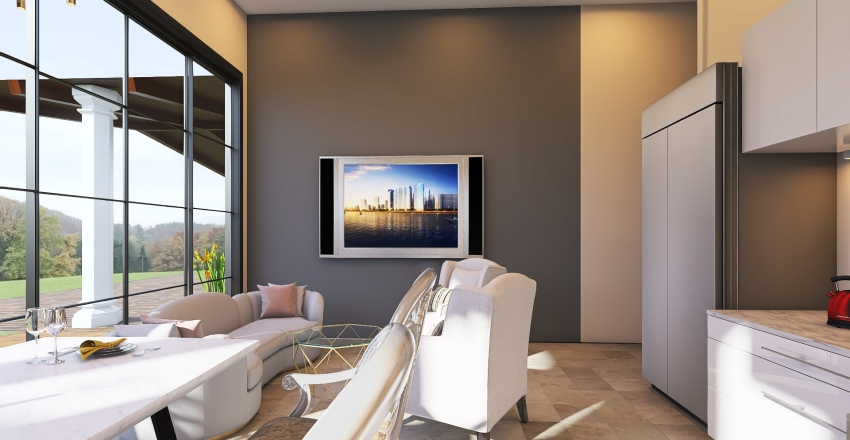 Ria Home Extension Interior Design Render