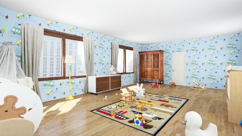 Baby's Room Interior Design Render