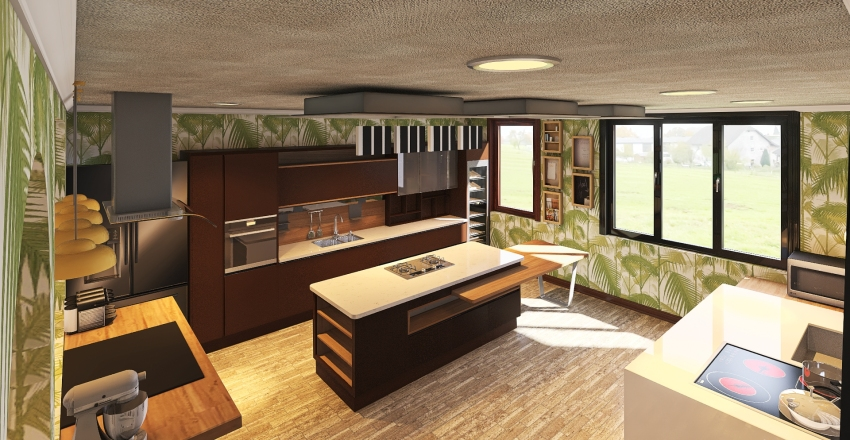 Dream home for my mom. Interior Design Render