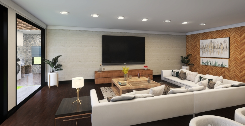 015| Country House Interior Design Render